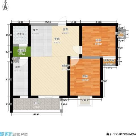 广丰花园2室1厅1卫1厨73.00㎡户型图