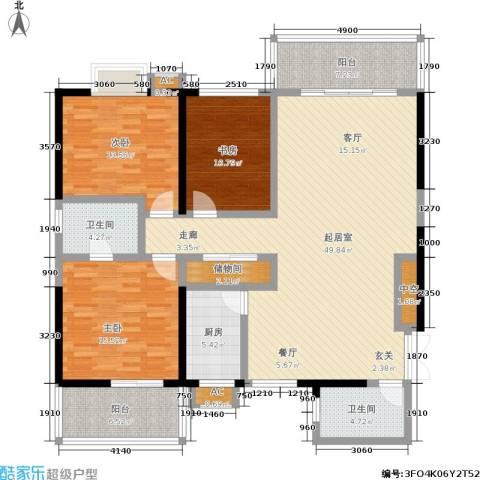 江山如画三期3室0厅2卫1厨176.00㎡户型图