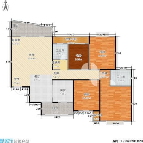 金色比华利4室0厅2卫1厨140.00㎡户型图