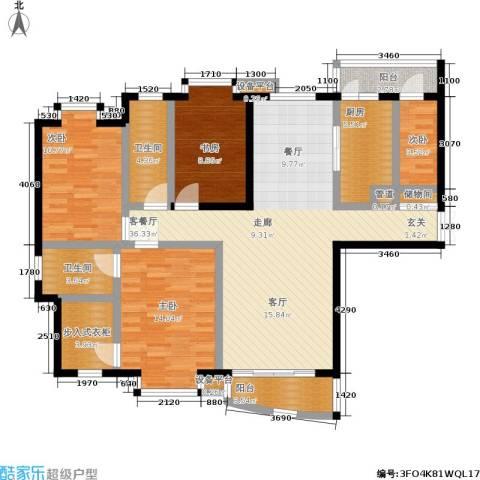 君悦豪庭4室1厅2卫1厨115.00㎡户型图