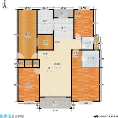 天峰名苑3室1厅2卫1厨150.00㎡户型图