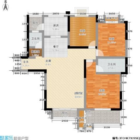 玛依拉山庄3室0厅2卫1厨115.00㎡户型图