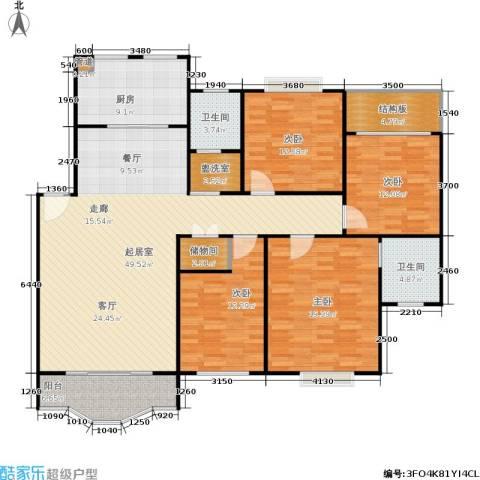 航发锦绣家园4室0厅2卫1厨150.00㎡户型图