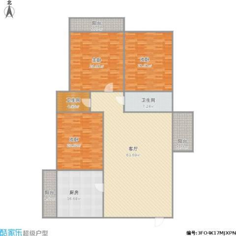 齐鲁世纪园3室1厅2卫1厨229.00㎡户型图