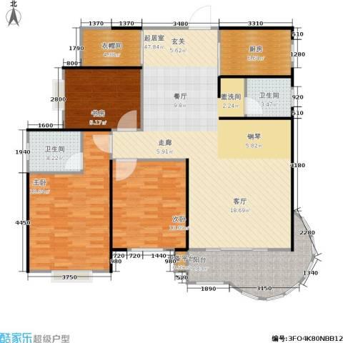 金色比华利3室0厅2卫1厨120.00㎡户型图