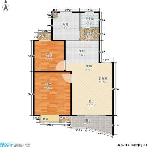 航发锦绣家园2室0厅1卫1厨78.00㎡户型图