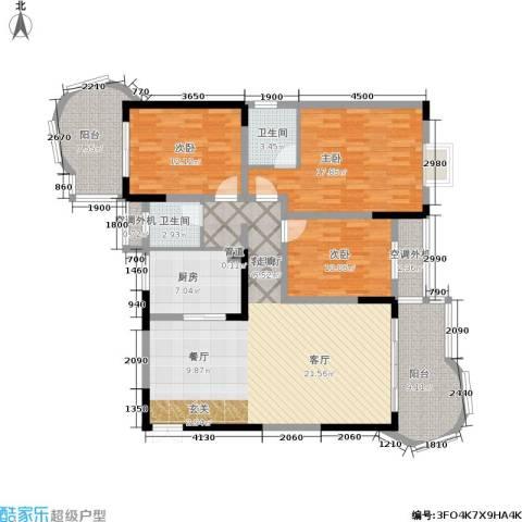 曙光泊岸3室1厅2卫1厨139.00㎡户型图