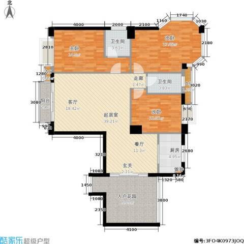 天泽一方3室0厅2卫1厨117.00㎡户型图