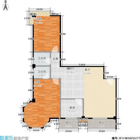 朝阳星苑1室1厅2卫1厨103.00㎡户型图