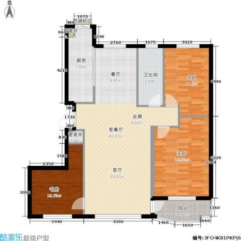 欣怡花园3室1厅1卫1厨110.00㎡户型图