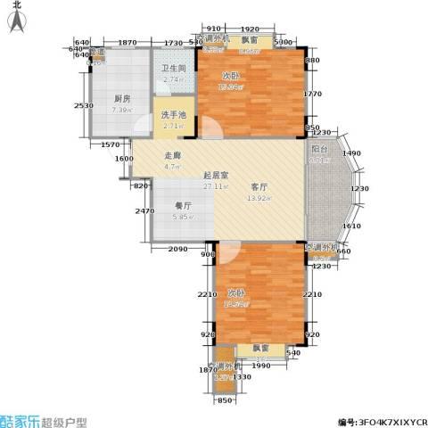 绿洲景芳2室0厅1卫1厨89.00㎡户型图
