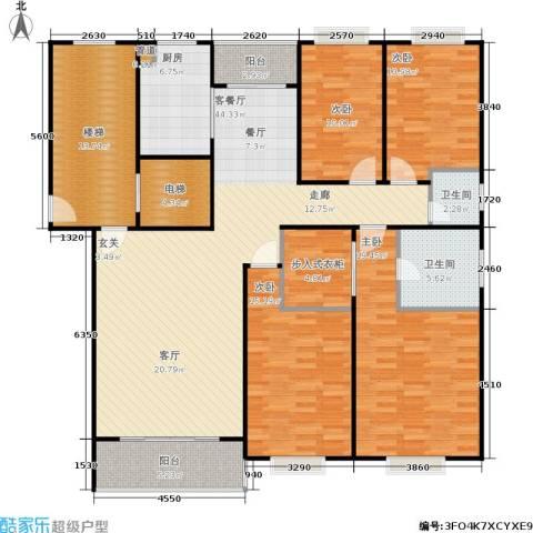 天峰名苑4室1厅2卫1厨179.00㎡户型图