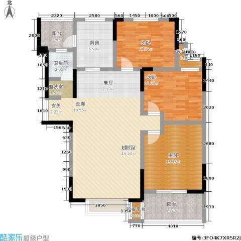 玛依拉山庄3室0厅1卫1厨115.00㎡户型图