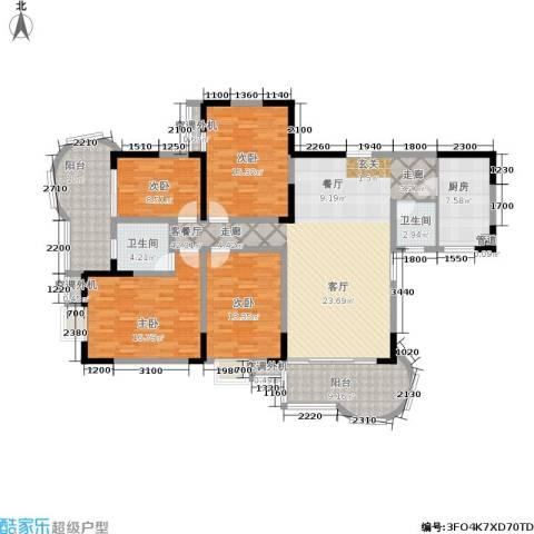 曙光泊岸4室1厅2卫1厨156.00㎡户型图