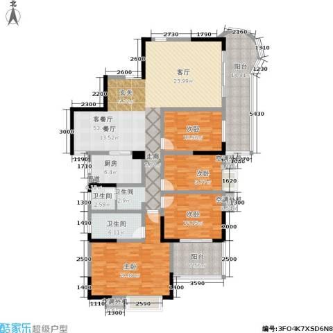 曙光泊岸4室1厅2卫1厨174.00㎡户型图