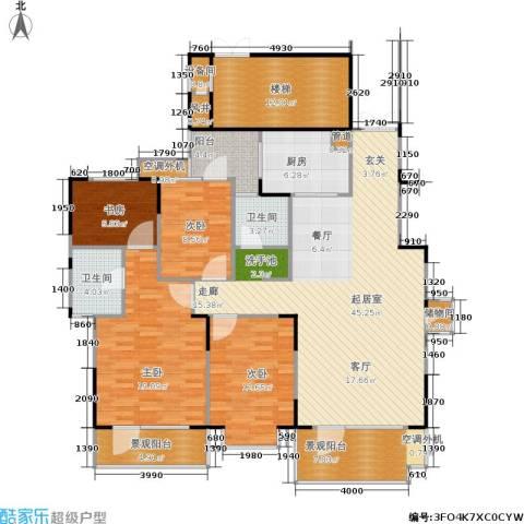 岳麓现代城4室0厅2卫1厨150.00㎡户型图