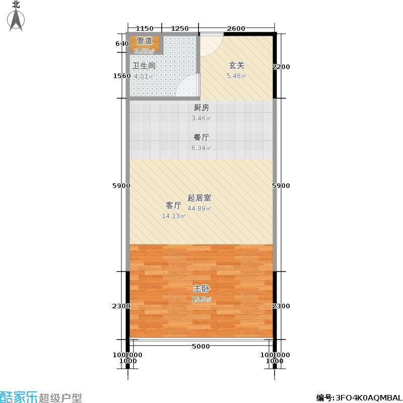 人瑞潇湘国际62.19㎡b户型