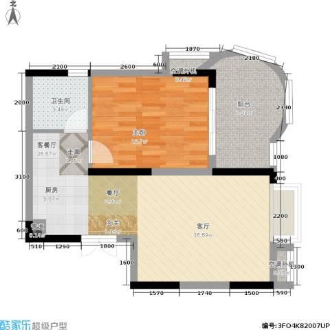 曙光泊岸1室1厅1卫0厨62.00㎡户型图