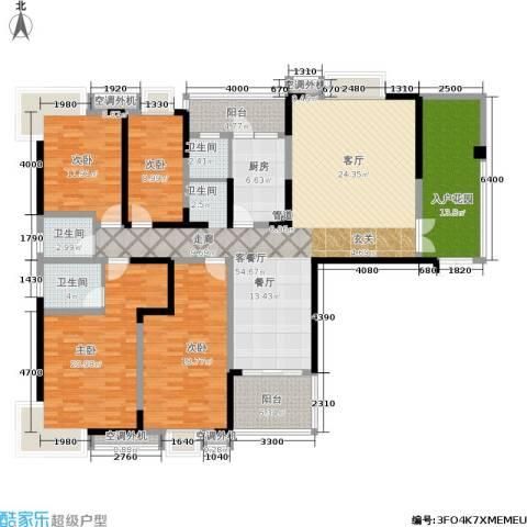 曙光泊岸4室1厅3卫1厨186.00㎡户型图