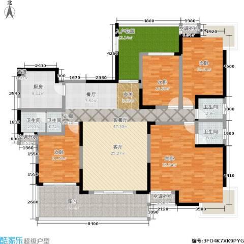 曙光泊岸4室1厅3卫1厨182.00㎡户型图