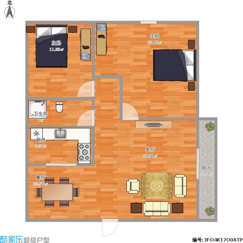 翠景居83平米2房2厅