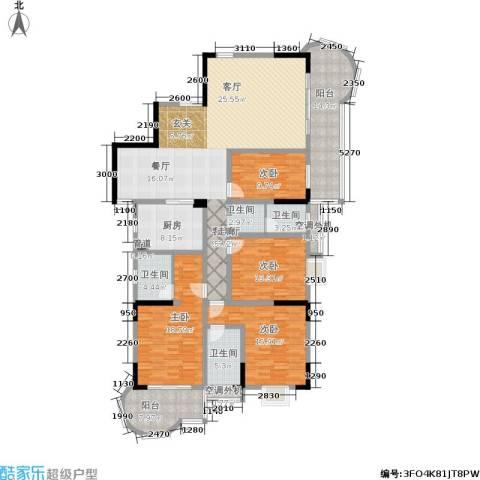曙光泊岸4室1厅3卫1厨190.00㎡户型图