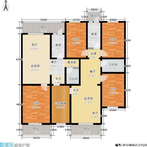 西马庄园4室0厅2卫2厨219.00㎡户型图