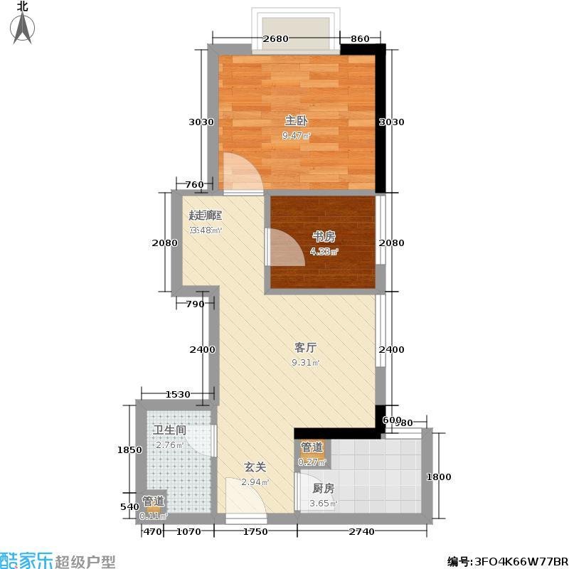 宇洋西海广场48.05㎡G户型 一室一厅一卫户型1室1厅1卫
