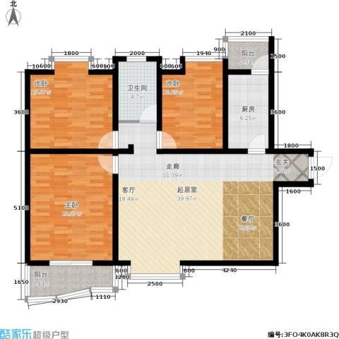 国际幸福城3室0厅1卫1厨120.00㎡户型图