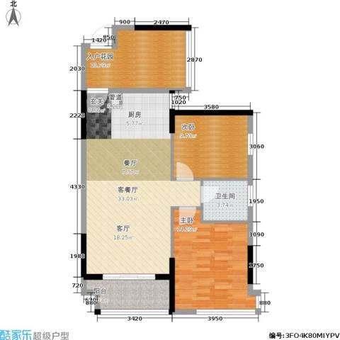 筑梦佳园2室1厅1卫0厨87.00㎡户型图