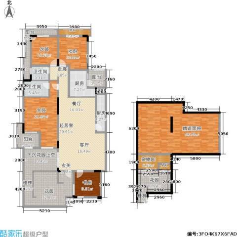 金科天湖小镇4室0厅2卫2厨233.03㎡户型图