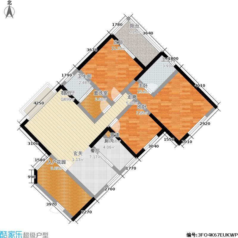 威尔士春天119.20㎡8栋8A-1户型3室2厅2卫1厨户型3室2厅2卫