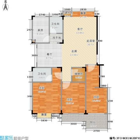 佳天雅苑3室0厅2卫1厨120.00㎡户型图