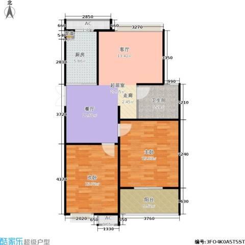 东方福郡2室0厅1卫1厨89.00㎡户型图