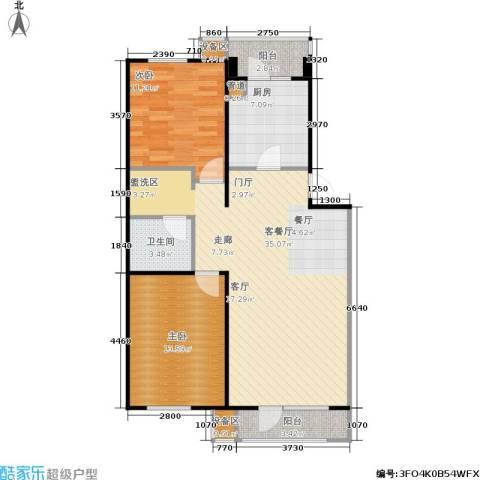 万科・深蓝2室1厅1卫1厨106.00㎡户型图