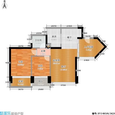 新德家园2室0厅1卫1厨80.00㎡户型图