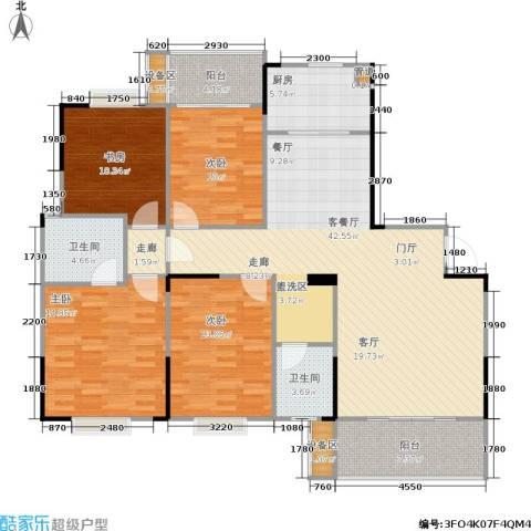鑫天山城明珠4室1厅2卫1厨163.00㎡户型图