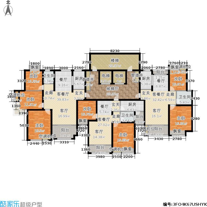 鲁商常春藤100.00㎡紫薇园32号楼E3、C2、B8-两室两厅一卫户型