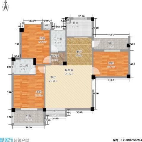 山水庭院3室0厅2卫1厨115.00㎡户型图