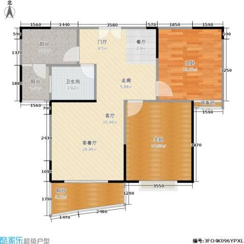 信政天鹅湾2室1厅1卫0厨90.00㎡户型图