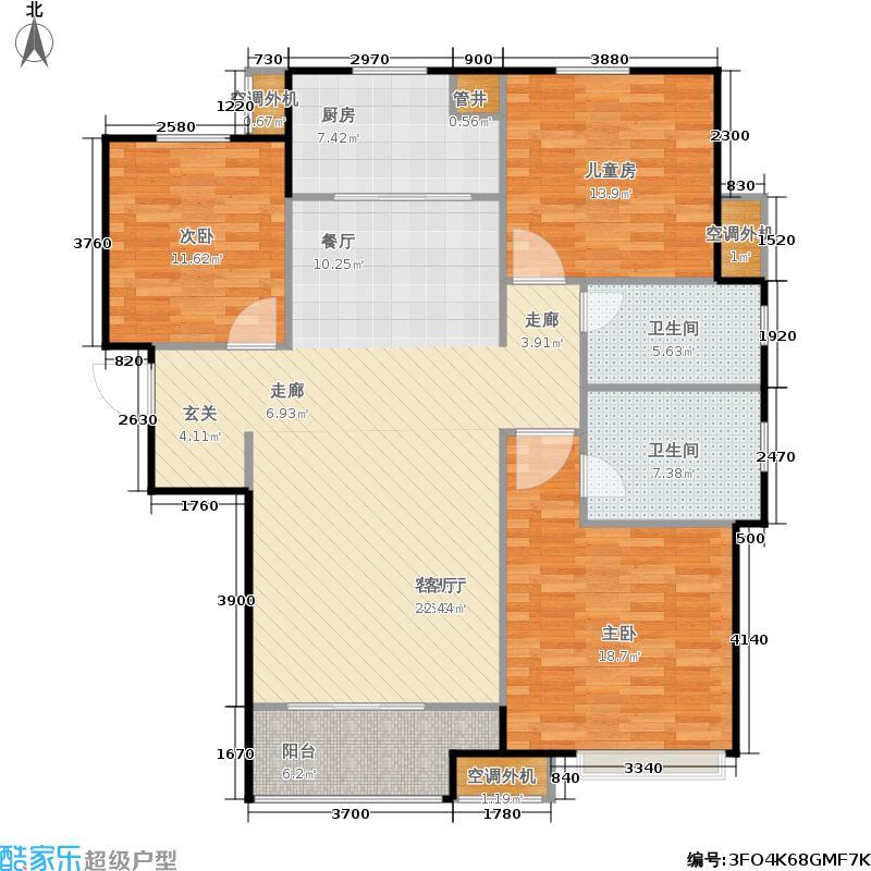 中海国际社区133.97㎡中海国际社区户型图7号地块5号楼D2(4/19张)户型3室2厅2卫