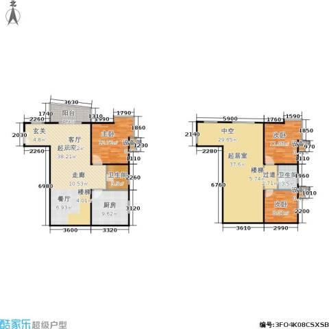 世家星城3室0厅2卫1厨130.93㎡户型图