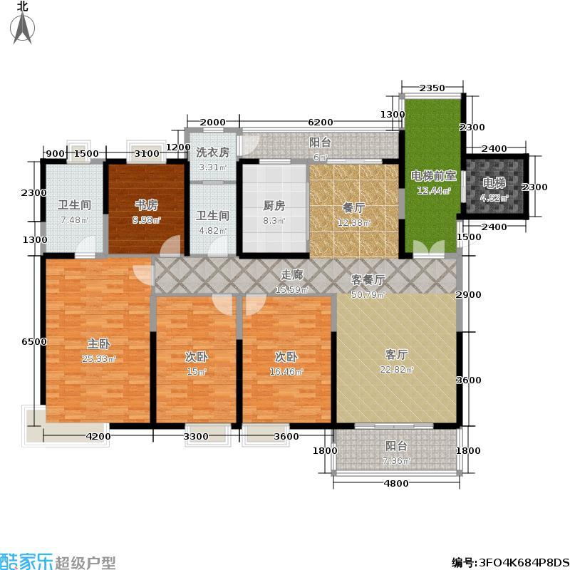 紫薇永和坊190.00㎡极境户型15号楼户型4室2厅2卫