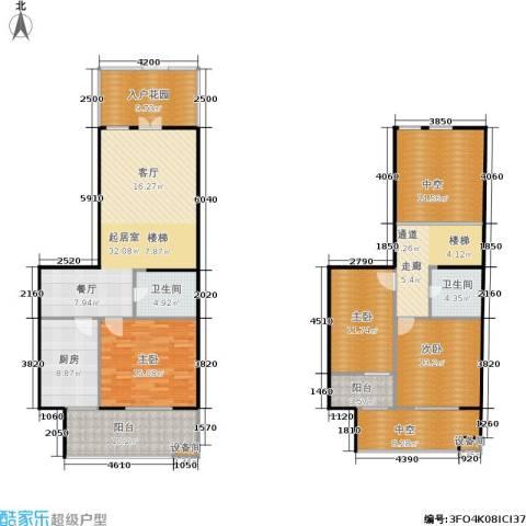 世家星城3室0厅2卫1厨146.51㎡户型图