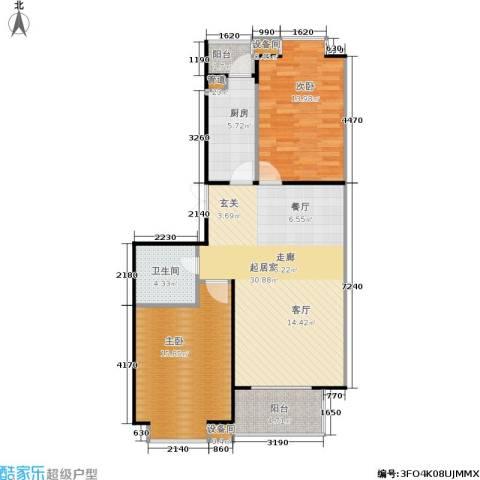 京鲁山庄2室0厅1卫1厨105.00㎡户型图