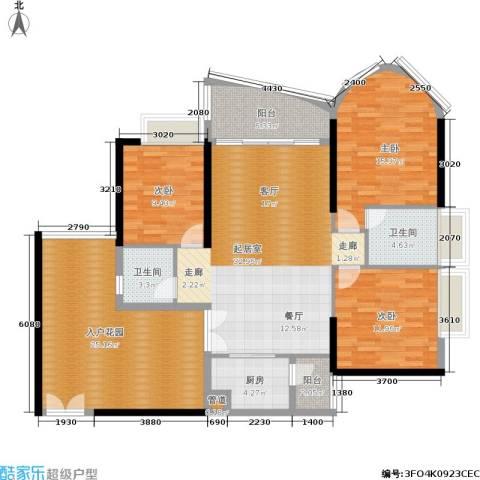 佳大银湾3室0厅2卫1厨136.00㎡户型图