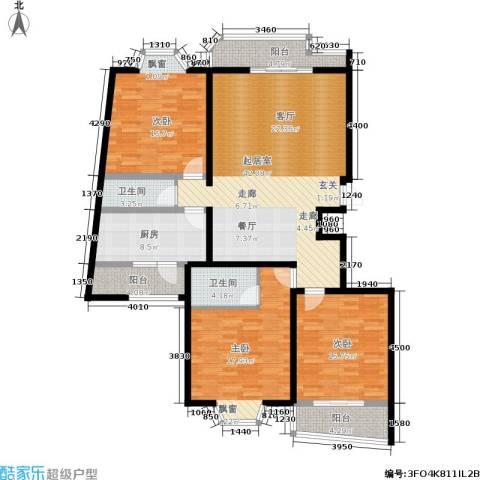 阳光丽城3室0厅2卫1厨140.00㎡户型图