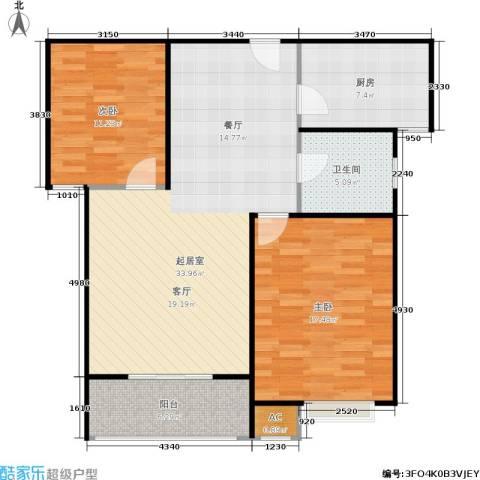 市政馨苑2室0厅1卫1厨110.00㎡户型图
