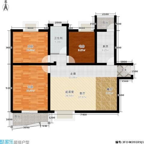 国际幸福城3室0厅1卫1厨134.00㎡户型图