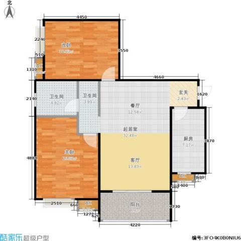 市政馨苑2室0厅1卫1厨112.00㎡户型图